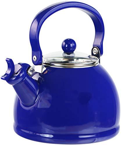 - Reston Lloyd 60705 2 Quart Enamel, Teakettle, Whistling Kettle, Tea Pot, Indigo