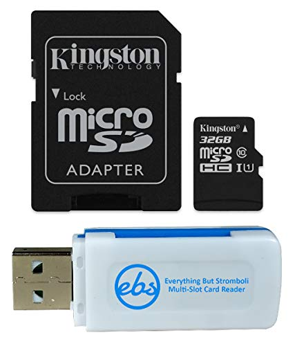 (Kingston 32GB SDHC Micro Canvas Select Memory Card and Adapter Bundle Works with Samsung Galaxy A50, A40, A30 Cell Phone (SDCS/32GB) Plus (1) Everything But Stromboli (TM) MicroSD and SD Card Reader)