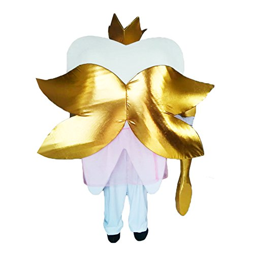 UBCM Tooth Prince Mascot Costume Suit Dental Care Adults Size Dress Party Advertising