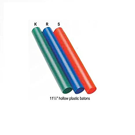 Batons - Track & Field Relay Racing 11 1/2 Official Size Hollow Plastic Baton (3 Colors) Batons from Markwort