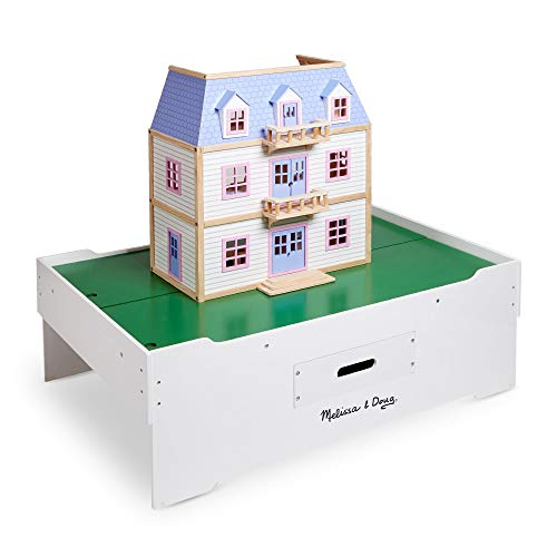 Melissa & Doug Deluxe Wooden Multi-Activity Play Table (For Trains, Puzzles, Games, Jumbo Drawer for Storage, 40.64 cm H x 82.55 cm W x 127 cm L)