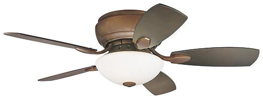 "Ceiling Hugger Fans With Lights: 44"" Casa Habitat Oil-Rubbed Bronze Hugger Ceiling Fan,Lighting"