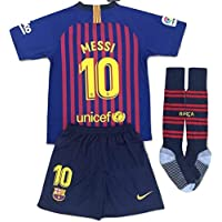 Messi #10 FC Barcelona 2018-2019 Youths Home Soccer...