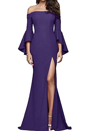 Langarm Figurbetont Rot Brautmutterkleider Regency Abendkleider Partykleider Festlichkleider Lang Braut Etuikleider Damen mia La 8qWBzgII