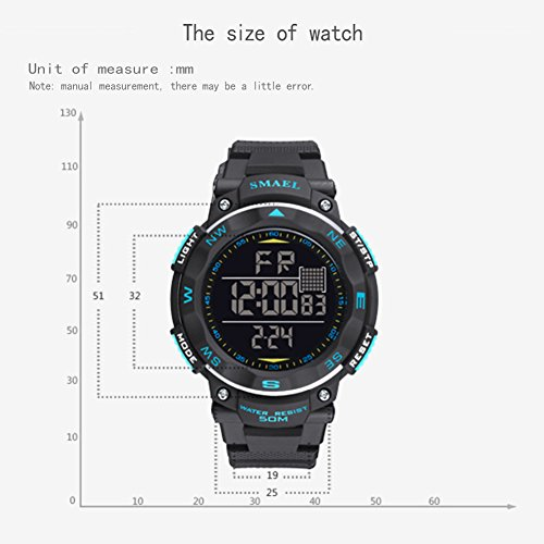 ETbotu Children LED Electronic Digital Luminous Multifunction PU Strap Waterproof Alarm Calendar watches by ETbotu (Image #3)