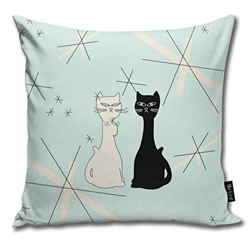 Zara-Decor Meowdern-Minty - Funda de cojín Decorativa para ...