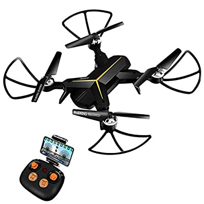 KOOME Drone Camera, 720P HD Live Video WiFi Foldable Quadcopter Headless Mode Altitude Hold One Key Return Function, Camera Drones Beginners Kids from KOOME