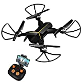 Cheap KOOME Drone Camera, 720P HD Live Video WiFi Foldable Quadcopter Headless Mode Altitude Hold One Key Return Function, Camera Drones Beginners Kids