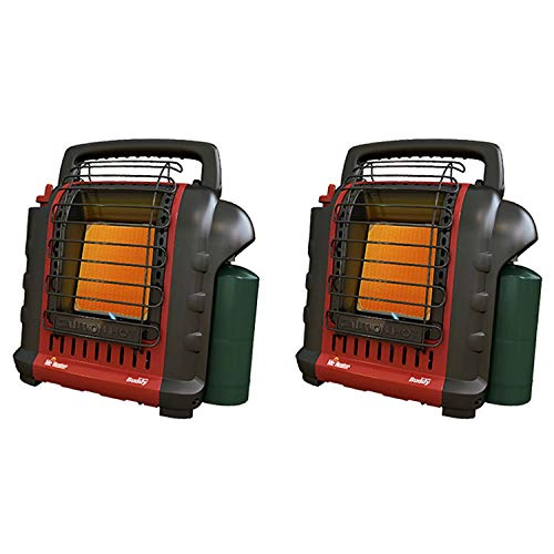 Mr. Heater Portable Buddy Camping, Job Site, Hunting Propane Gas Heater (2 Pack)