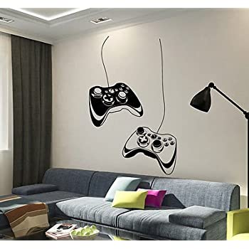 Marvelous Vinyl Wall Decal Joystick Video Game Play Room Gaming Boys Stickers VS652 Idea