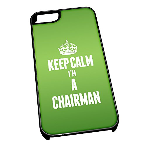 Nero cover per iPhone 5/5S 2547verde Keep Calm I m A Chairman