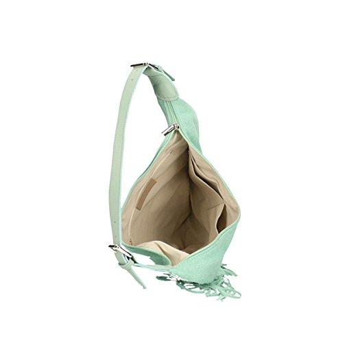 Chicca Borse Piel genuina bolso 40x27x7 Cm puerto pequeño