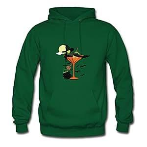 Halloween Martini Girl By Halftime Designs Avengers America Green Sweatshirts O-neck X-large For Women Print