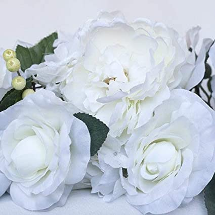 Amazon 50 long cream silk flowers swag home kitchen 50quot long cream silk flowers swag mightylinksfo
