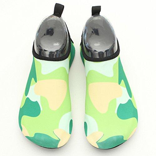 LUUB Männer und Frauen Quick-Dry Sport Barfuß Wasser Haut Schuhe Aqua Socken für Beach Pool Sand Schwimmen Surf Yoga Wassergymnastik Grün
