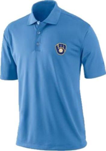 - VF Milwaukee Brewers Majestic Vintage Logo Dri Fit Polo Golf Shirt Big & Tall Sizes (6XL)