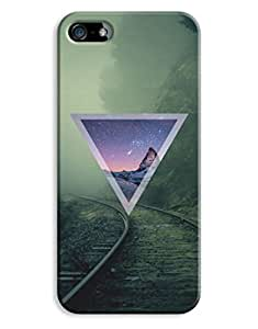 Indie Hipster Triangle Misty Nebula Design iPhone 5 5S Hard Case Cover