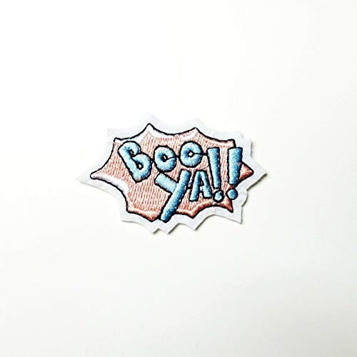 Boo Ya! Comic Word Patch Cartoon Pop Art Iron-On/Sew-On Embroidered Applique TY-36