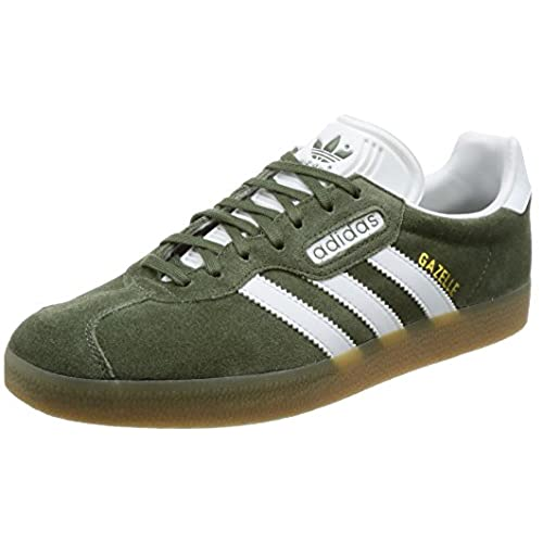 adidas Gazelle Super, Chaussures de Fitness Homme, Vert Kaki