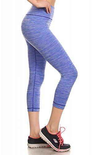 Shosho Women Leggings Blue Medium