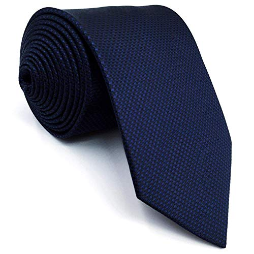 Solid Blue Navy Silk Ties for Men Silk Navy (Navy Blue Silk Necktie)