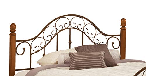 San Marco Metal Headboard - Hillsdale 310Hk San Marco Headboard, King, Brown Copper
