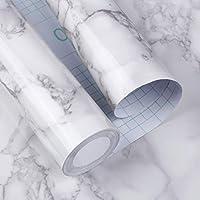 HooTown 大理石 シート 壁紙シール ウォールステッカー DIY インテリア リメイクシート 防水 防汚 防湿 はがせる キッチン 浴室 トイレ 家具 テーブル 日本語取扱説明書付き
