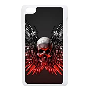 iPod Touch 4 Phone Case White Bloody The Punisher Skull Logo ZHC2685715