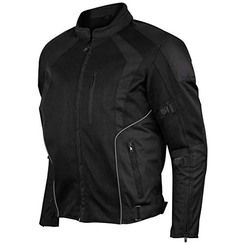 MEN'S 3 SEASON MESH/TEXTILE CE ARMOR MOTORCYCLE JACKET