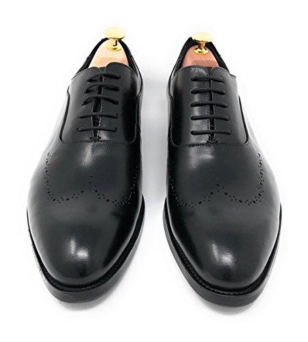 DRESMODE Chaussures de Ville à Lacets pour Homme Noir Noir RJcJH7