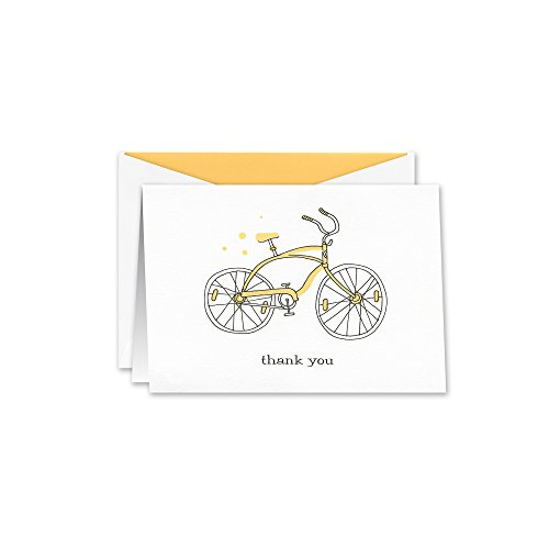 William Arthur Yellow Bicycle Thank You Note (B107025)
