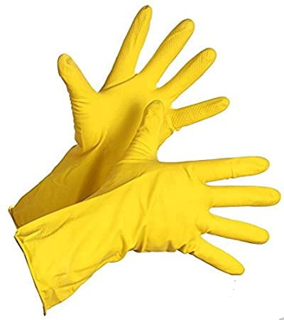 Premier Rubber Hand Gloves Set (Yellow, 6-Pieces)
