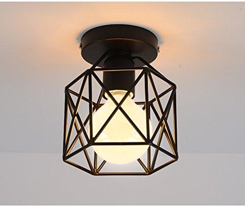 Lámpara Jaula de Techo,GZQES,Lluminación E27 Colgante Jaula ...