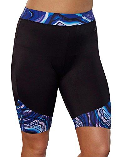 Aquabelle Women's Chlorine Resistant Undertow Long Bike Short 16 - Shorts Resistant Chlorine