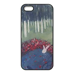 White rabbit washing in the pond Phone Case for iPhone 5S(TPU)