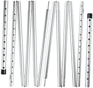 REDCAMP Aluminum Tarp Poles Heavy Duty and Adjustable, Set of 2, 35''-90''/75''-86&quo