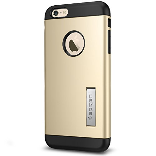 Spigen Slim Armor iPhone 6S Plus Case with Kickstand and Air Cushion Technology Hybrid Drop Protection for iPhone 6S Plus / iPhone 6 Plus - Champagne Gold