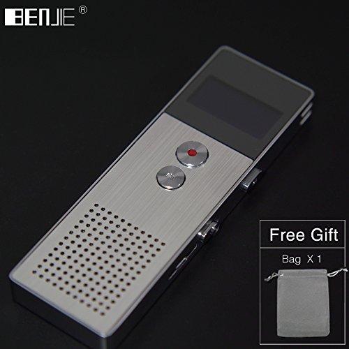 Fibest Original BENJIE 8GB Mini Flash Digital Voice Recorder Dictaphone MP3 Music Player Gravador de voz Support TF Card Built-in Loudspeaker