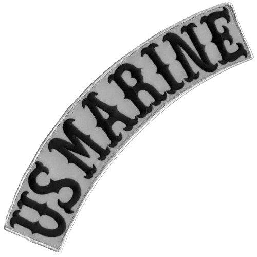 VEGASBEE US Marine Reflective Embroidered Iron-ON Patch Biker