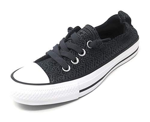 (Converse Women's Shoreline Slip on Sneaker (Sharkskin/Black/White, 10 B(M) US))