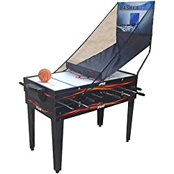 Voit 4 in 1 Table Game Foosball Air Hockey Pool Basketball, 48-Inch
