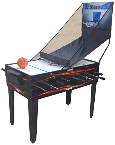 Voit Foosball - Voit 4 in 1 Table Game Foosball Air Hockey Pool Basketball, 48-Inch