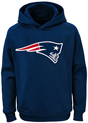 Outerstuff NFL Youth Team Color Performance Primary Logo Pullover Sweatshirt Hoodie (Medium 10/12, New England - Sweatshirt Nfl
