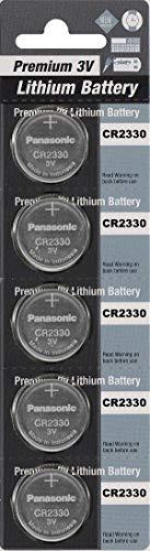 - Panasonic CR2330 3V Lithium Cell Battery (5pcs per Pack)
