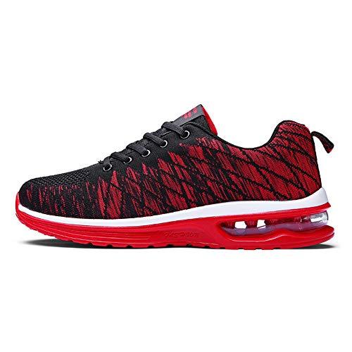 fca71f8041ec1 Men s Lightweight Air Cushion Outdoor Sport Running Shoes(Red-Lable 41 7.5 D