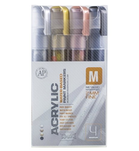 Montana Paint Marker Metallic 4 Set Fine