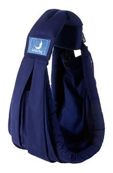 BabaSling Babytragetuch mit 5 unterschiedlichen Tragepositionen - blau