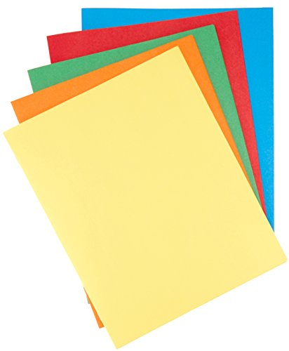 Basic Filing Pocket - AmazonBasics Twin Pocket File Folders with Fasteners, 25-Pack