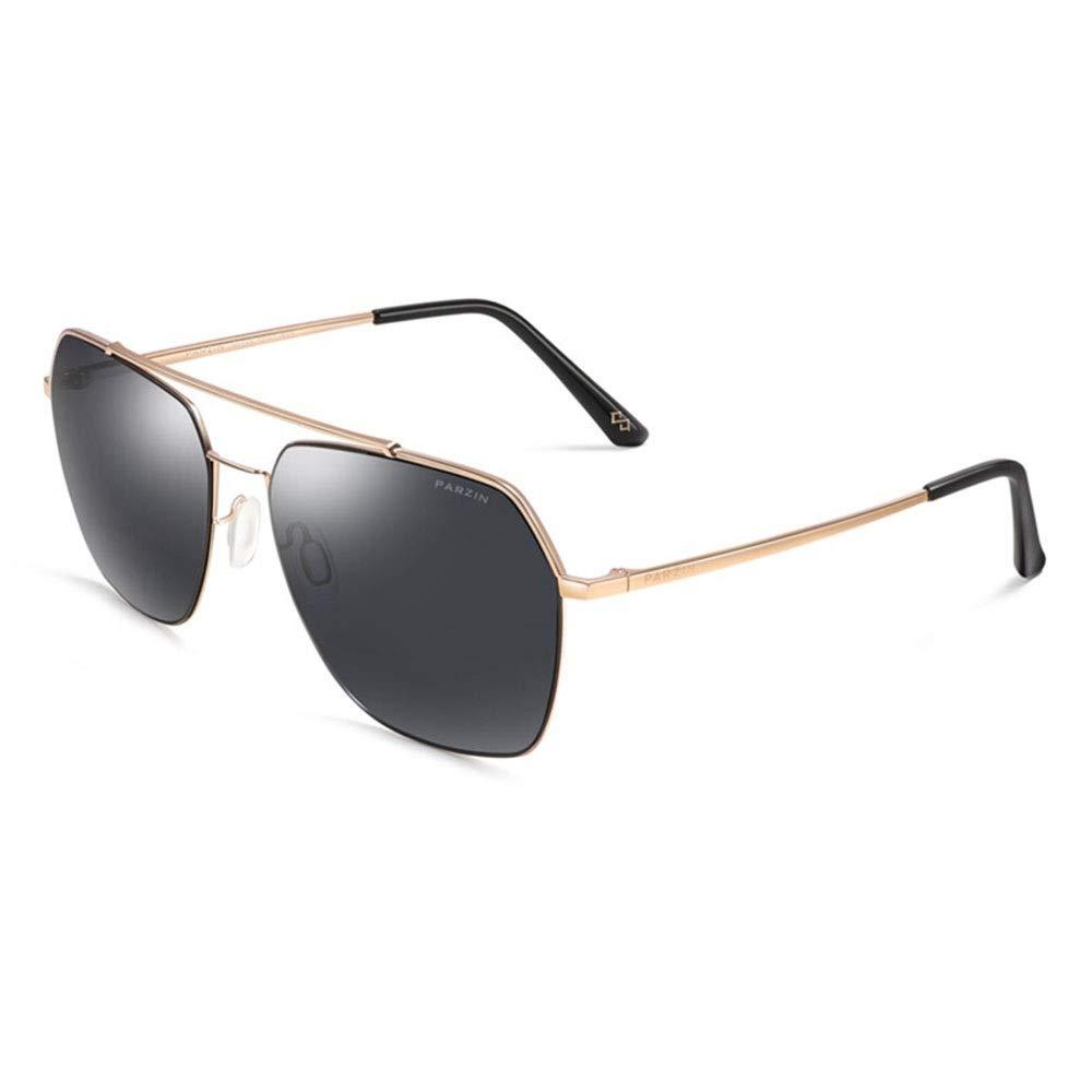 B Sunglasses, Neutral Geometric Metal Plate Polarized Personality Large Frame Casual Sports Sunglasses UV400 100% UV Predection