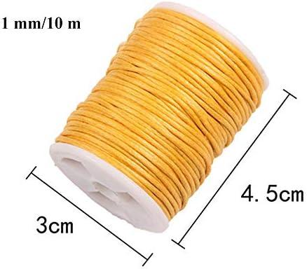 Anyasen Cordón Encerado 12 Rollos Cordón de Algodón Hilo de algodón Hilo Cuerda Encerado Joyería Cordón Cable 1mm para DIY Collar Pulsera Abalorios 10m: Amazon.es: Hogar